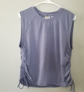 Zella purple side cinch athletic top